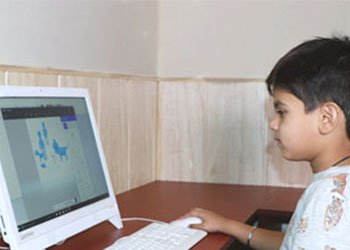 Computer Room in Play School in Gurgaon